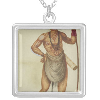 Indian in Body Paint Silver Plated Necklace