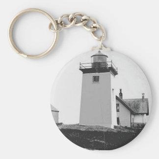 Indian Island Lighthouse Keychain