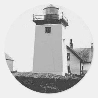 Indian Island Lighthouse Round Sticker