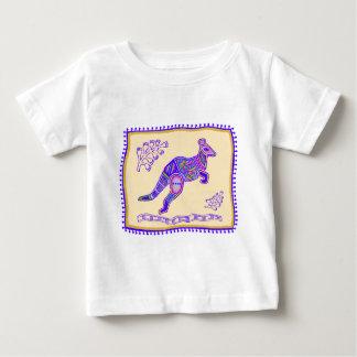 Indian Kangaroo Quilt Baby T-Shirt