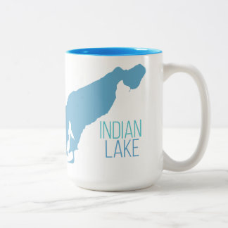 Indian Lake - Vicksburg, Michigan Two-Tone Coffee Mug