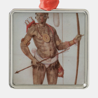Indian Man of Florida Christmas Ornament