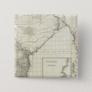 Indian Map 15 Cm Square Badge
