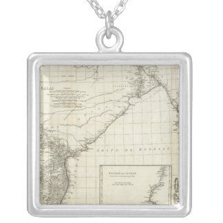 Indian Map Silver Plated Necklace
