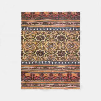 Indian Mosaic Style Fleece Blanket