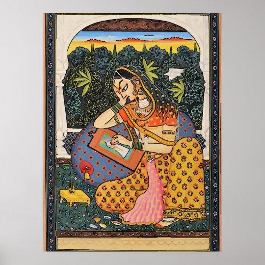 Indian, Mughal Woman, Princess Poster