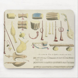 Indian Musical Instruments, plate 23 from 'Orienta Mouse Mat