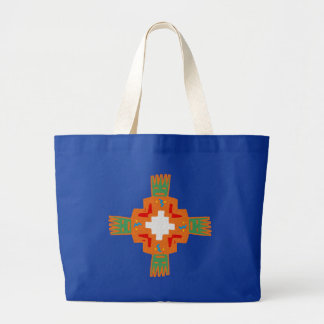 Indian native american ornament Deco ration Large Tote Bag