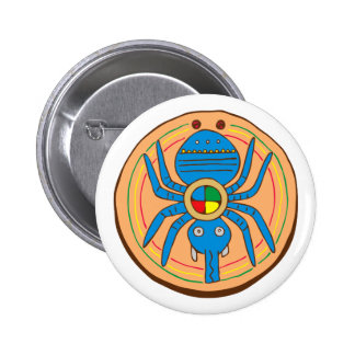 Indian native American spider SPI that 6 Cm Round Badge