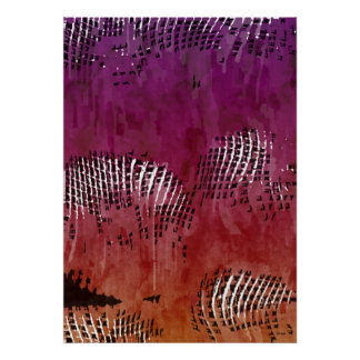 Indian Night Abstract Art Poster
