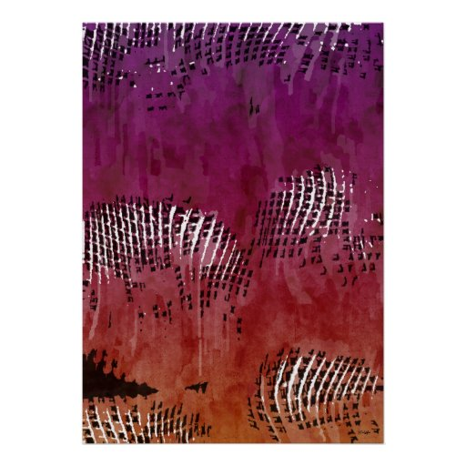 Indian Night Abstract Art Poster Posters
