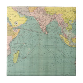 Indian Ocean 3 Small Square Tile