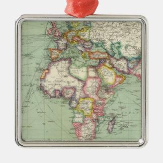 Indian Ocean, Atlantic Ocean Silver-Colored Square Decoration