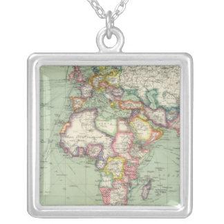 Indian Ocean, Atlantic Ocean Silver Plated Necklace