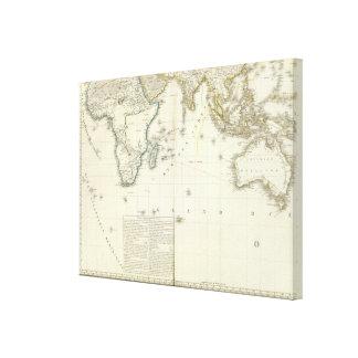 Indian Ocean Atlas Map Canvas Print