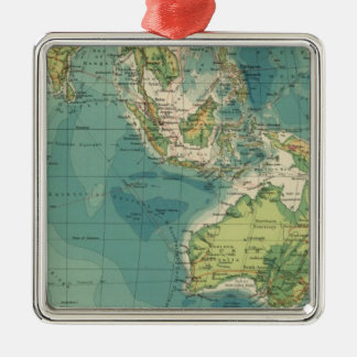 Indian Ocean cables, wireless stations Christmas Ornament