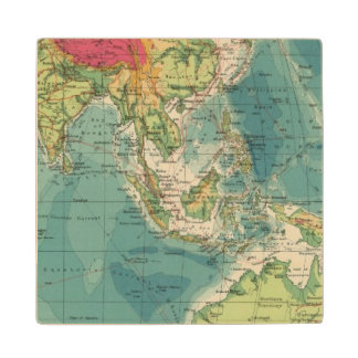 Indian Ocean cables, wireless stations Wood Coaster