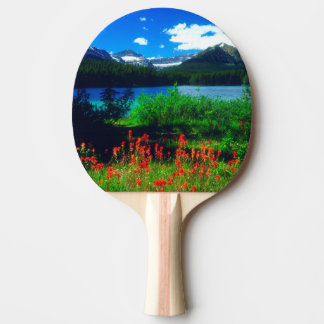 Indian Paintbrush Wildflowers Ping Pong Paddle