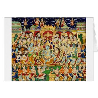 INDIAN PAINTING SRI RAMA DURBAR GREETING CARD
