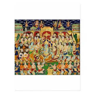 INDIAN PAINTING SRI RAMA DURBAR POSTCARD