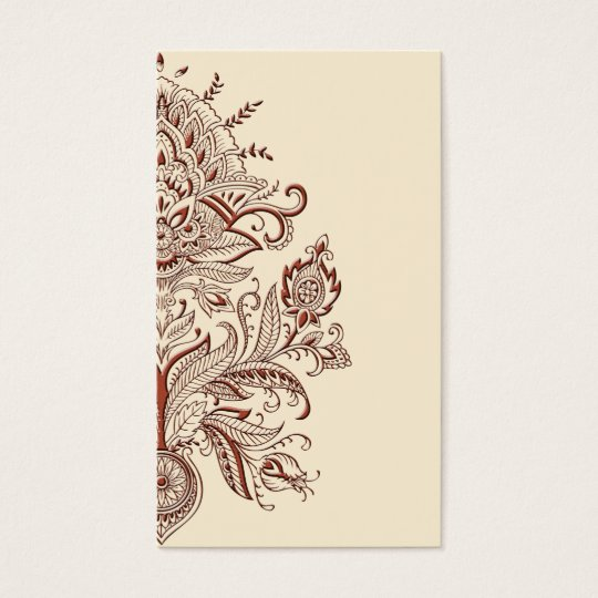 Indian Paisley - Business Card