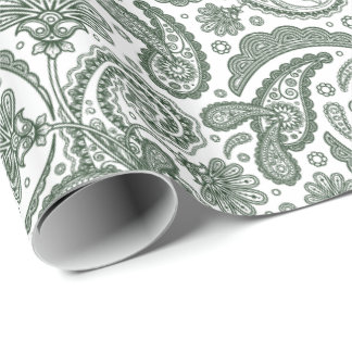 Indian Paisley Damask Repeating 14 -Wrapping Paper