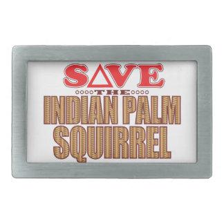 Indian Palm Squirrel Save Belt Buckle
