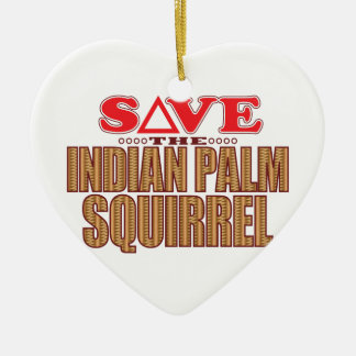 Indian Palm Squirrel Save Christmas Ornament
