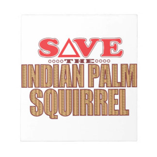 Indian Palm Squirrel Save Notepad