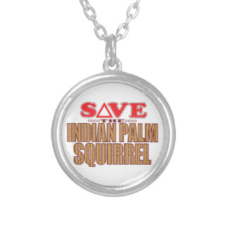 Indian Palm Squirrel Save Silver Plated Necklace