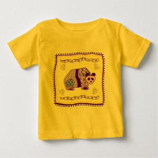 Indian Panda Quilt Baby T-Shirt