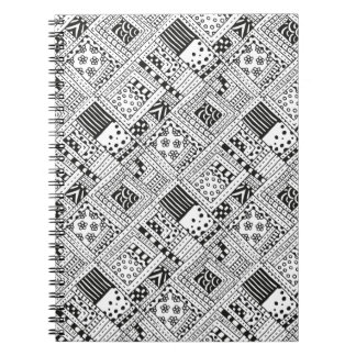 Indian Pattern Doodle Spiral Notebook