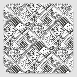 Indian Pattern Doodle Square Sticker