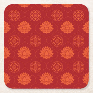 Indian Pattern Square Paper Coaster
