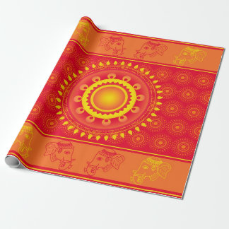 Indian pattern wrapping paper