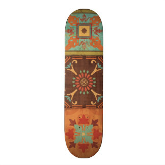 Indian Patterns 21.6 Cm Old School Skateboard Deck