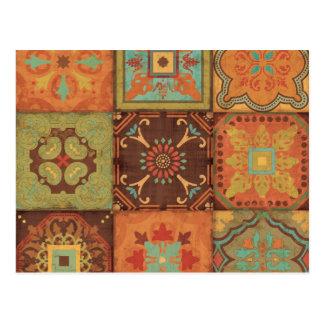Indian Patterns Postcard
