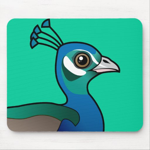 Indian Peafowl Mousepads