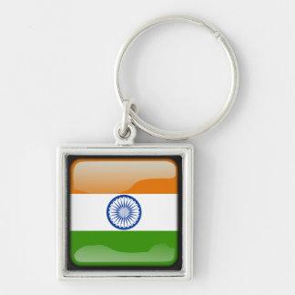 Indian polished flag key ring