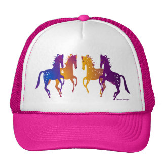 Indian Ponies Adjustable Baseball Cap Mesh Hats