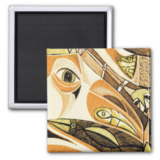 indian raven by gregory gallo refrigerator magnet