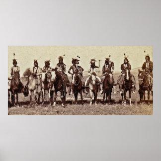 Indian reception of President Arthur 1883 Poster