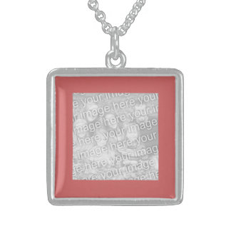 Indian Red Square Photo Border Custom Jewelry