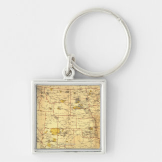 Indian Reservations West of the Mississippi Key Ring