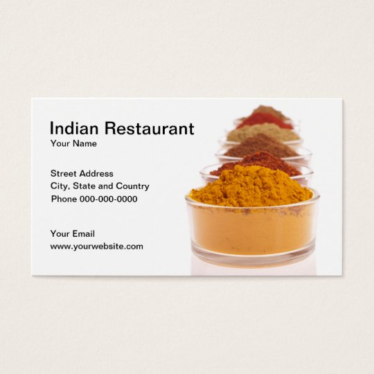 Indian Restaurant Business Card