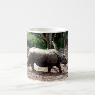 Indian rhino coffee mug