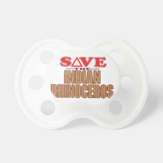 Indian Rhinoceros Save Baby Pacifiers