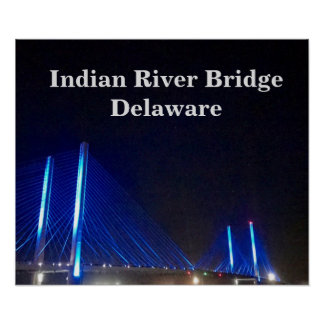 Indian River Bridge Delaware Poster