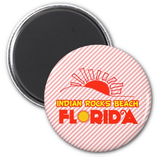 Indian Rocks Beach, Florida 6 Cm Round Magnet