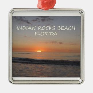 Indian Rocks Beach Florida Sunset Christmas Ornament